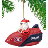 Montreal Canadiens Rocket Santa Ornament-O Canada