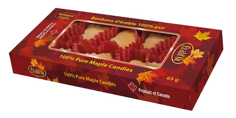 Erabl'or Soft Maple Candies Organic 65g-O Canada