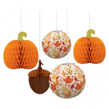 Fall Lanterns & Honeycombs 5pk