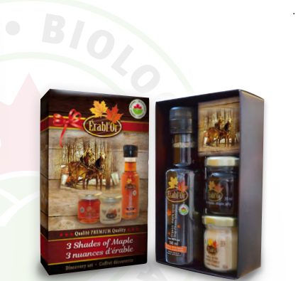 Erabl'or organic Gift Box - Maple Syrup/Butter/Jelly