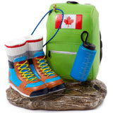 Canada Flag back & Hiking Boots Ornament