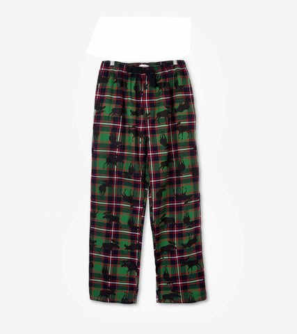 Hatley Plaid Moose Flannel Pants - Men's