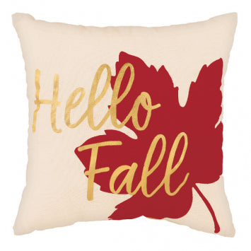 Hello Fall Fabric & Metallic 31cm Pillow