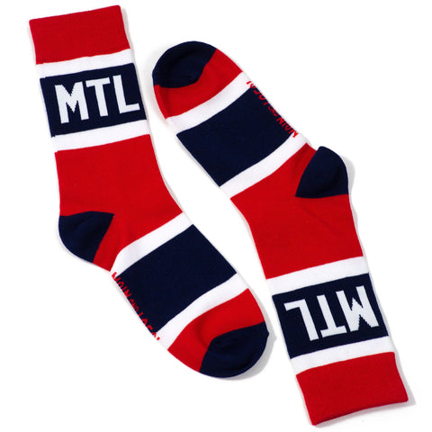Montreal City Stripes Socks - Unisex