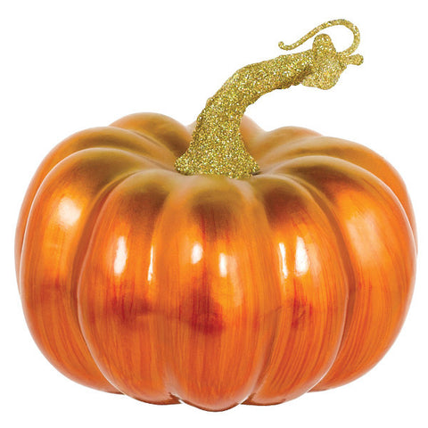 Matte Metallic Pumpkin Decoration