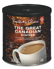 PC Great Canadian Coffee 343g-O Canada