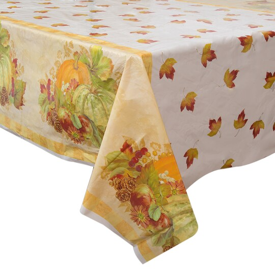 Pumpkin Harvest Printed Plastic Table Cover