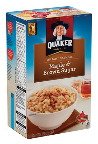 Quaker Instant Oatmeal Maple & Brown Sugar 380g-O Canada