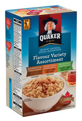 Quaker Instant Oatmeal Variety Pack 325g-O Canada