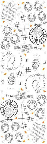 Thanksgiving Kids Activity Paper Tablecloth-O Canada