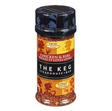 The Keg Chicken & Rib Seasoning 168g- Best Before 17 Apr 2019-O Canada