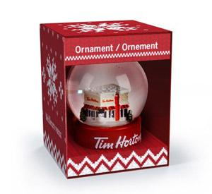 Christmas Ornament - Tim Hortons Collectible Snow Globe-O Canada
