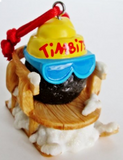 Christmas Ornament - Tim Hortons Timbit on Sled-O Canada