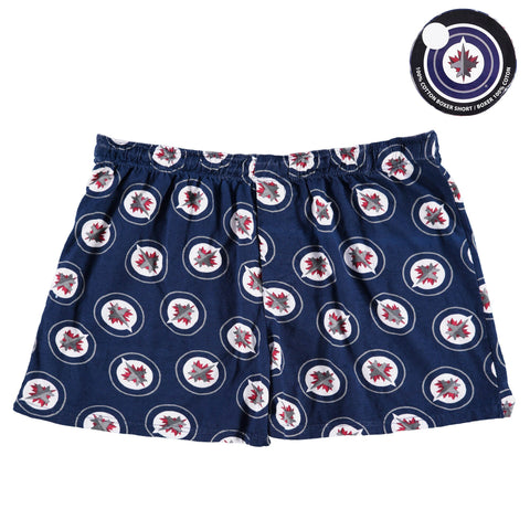 Men's Winnipeg Jets Blue Boxers - Puck Packaged
