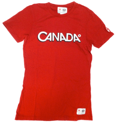 Women's Cotton Logo T-shirt-O Canada