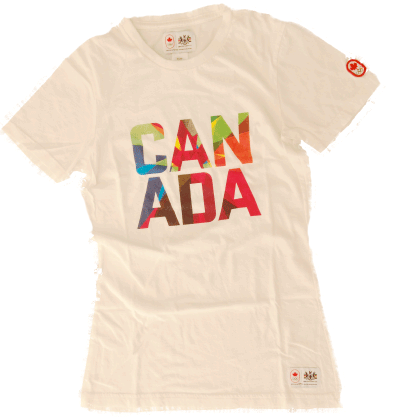 Women's Graphic Cotton Tee-O Canada