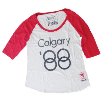 Women's Premium Two Toned Retro Raglan-O Canada