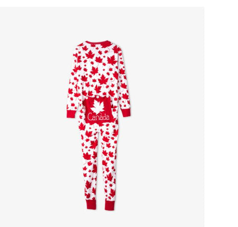 Maple Leaves Adult Union Suit - Unisex