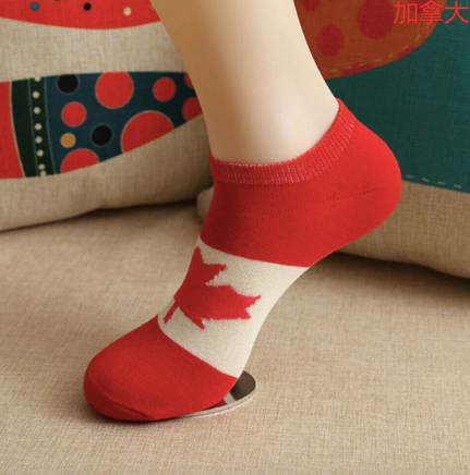 Canada Socks - Red & White Flag- Unisex