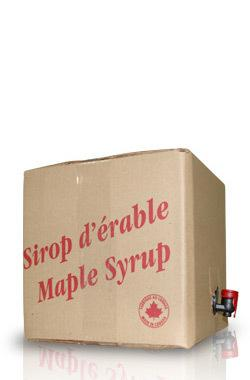 Bulk maple syrup concentrate, 17.1L/23kg box