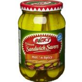 Bick's sandwich savers hot & spicy