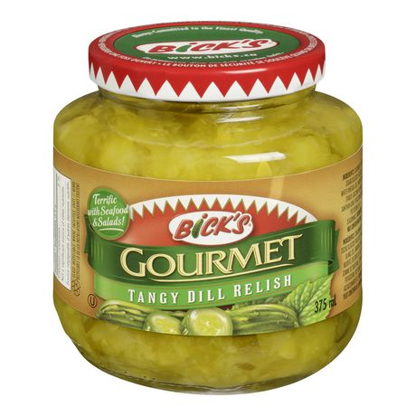 Bick's Gourmet Tangy Dill Relish 375mL-O Canada