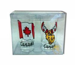 Shot Glasses - Flag and Moose-O Canada
