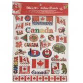 Canada souvenir stickers metallic