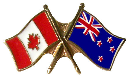 Lapel Pin - Canada & New Zealand Friendship-O Canada
