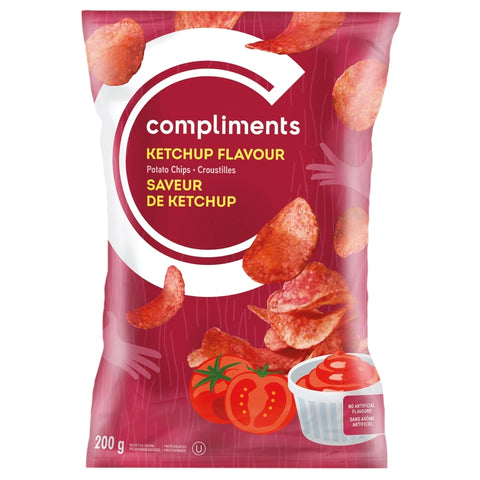 Compliments Ketchup Chips 200g