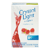Crystal Light Singles Raspberry Ice 10 x 4.5g -O Canada