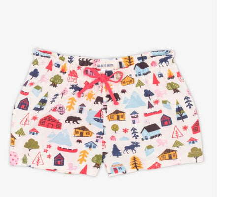 Cute Cottage Women's Sleep Shorts
