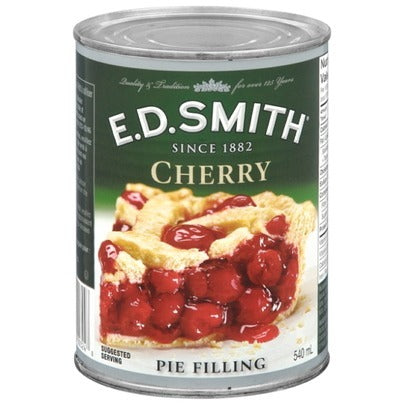 E.D. Smith Cherry Pie Filling 540mL- Best Before 11 Jan 20-O Canada