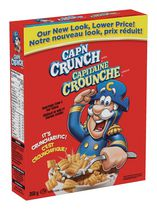 Quaker Cap'n Crunch (Captain Crunch) Cereal 350g-O Canada
