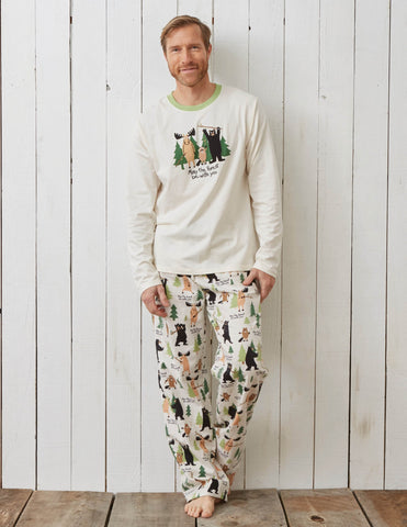 "Hatley ""May the Forest Be With You"" Men's Long Sleeve Tee-O Canada"