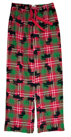 Hatley Plaid Moose Flannel Pants - Ladies'-O Canada