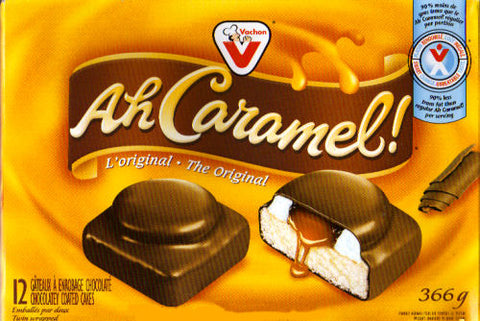 Vachon Ah Caramel! 12-pack 336g - Best Before 6 Jan 2019-O Canada