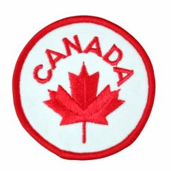 Canada Maple Leaf Circle Patch-O Canada