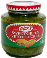 Bick's Sweet Green Relish 375mL-O Canada