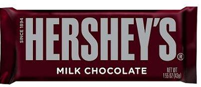 Hershey's Milk Chocolate Bar 43g-O Canada