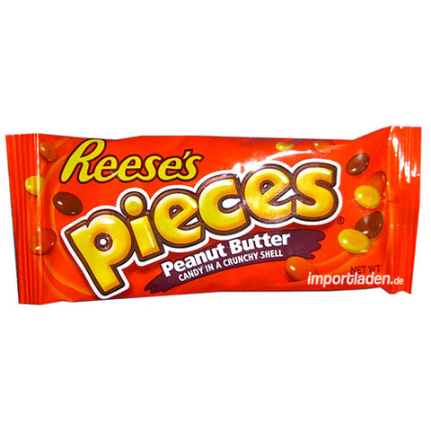 Reese's Pieces, peanut butter candy in a shell