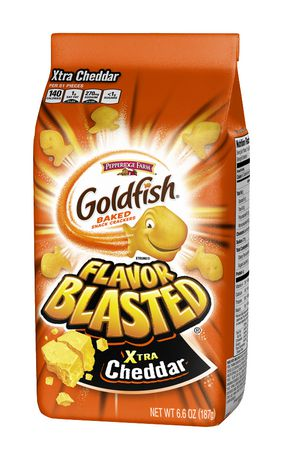 Goldfish Crackers Flavour Blasted Cheddar 200g-O Canada