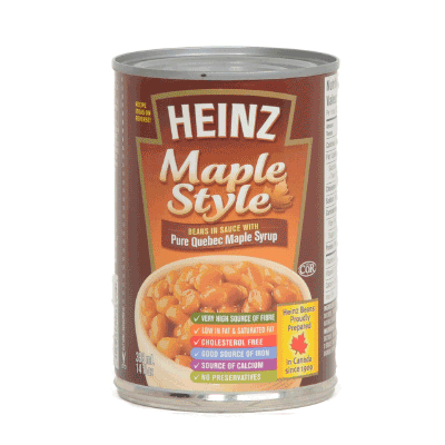 Heinz Maple Beans 398mL-O Canada