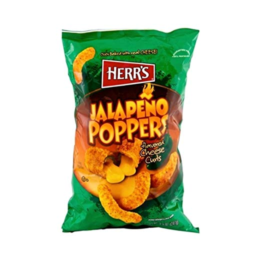 Herr's Jalapeno Poppers - Cheese Curls 198g