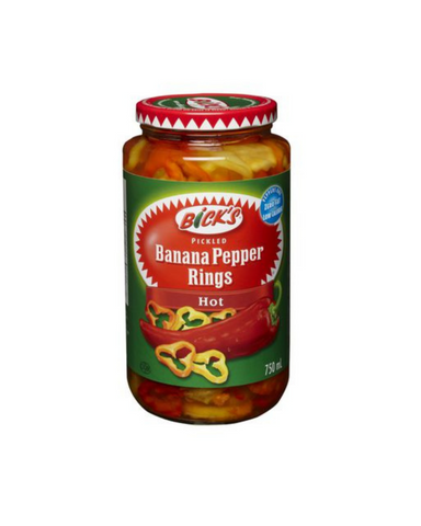 Bick's Banana Pepper Rings (Hot) 750mL-