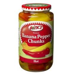 Bick's Banana Pepper Chunks (Hot) 750mL-O Canada
