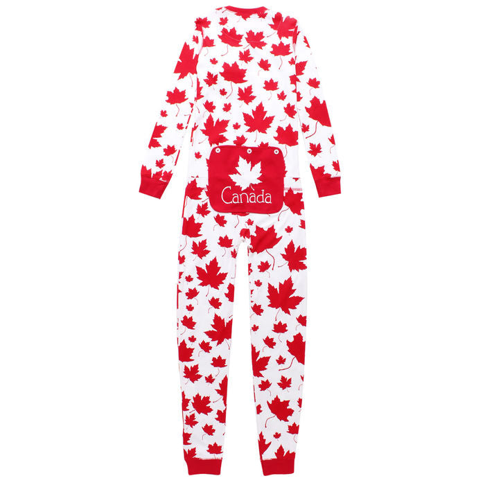 Hatley Maple Leaf Union Suit/Onesie - Kids-O Canada
