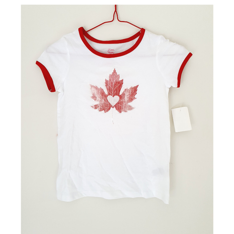 Jillians Closet - Kids Glittery Maple T-shirt