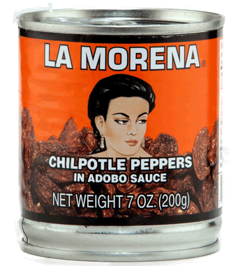 La Morena Chipotle Peppers in Adobo Sauce 200g- Best Before 29 Jun 2021-O Canada