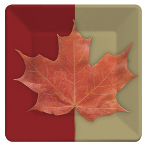 Maple Leaf Paper Luncheon Plates-O Canada